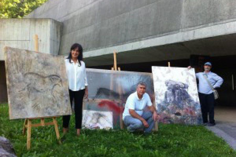 Artistas del Paleolítico y de hoy en día cara a cara en Ekainberri